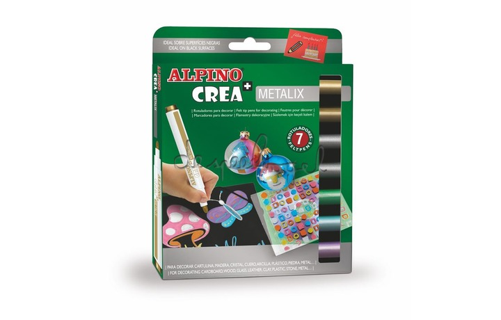 511201 Doosje 7 stiften Alpino Crea Metalix