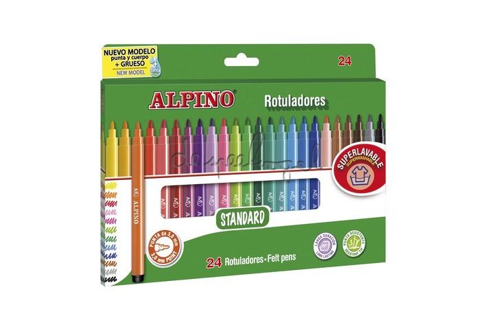 510202 Doosje 24 fijne kleurstiften Alpino