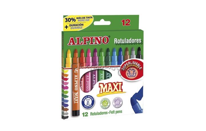 510211 Doosje 12 kleurstiften Alpino Maxi