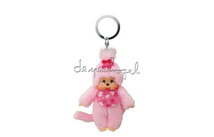242467 MONCHHICHI 10 cm Sleutelhanger Cherry Blossom roze