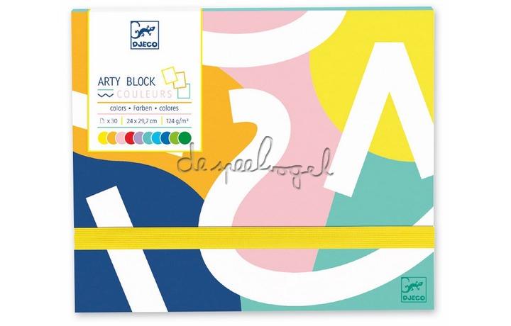 DJ08788 Arty block - Gekleurd papier