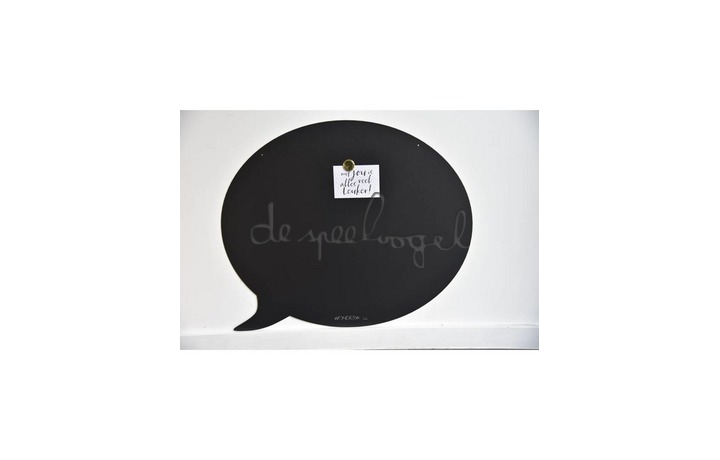 Magneetbord 67 x 70 cm Tekstballon Zwart