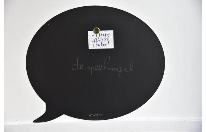 Magneetbord 95 x 80 cm Tekstballon Zwart XL