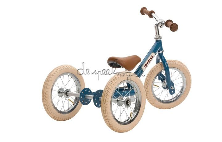 Trybike metalen loopfiets vintage Blauw