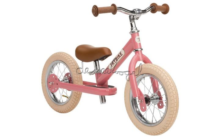 Trybike metalen loopfiets vintage roze
