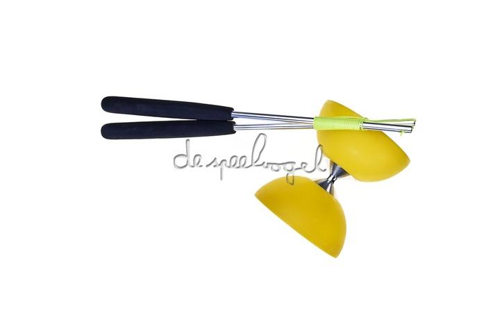 515706 Acrobat Diabolo Geel + aluminum handstokken