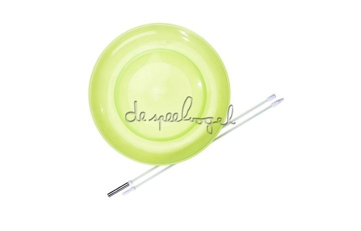 515784 Acrobat Soft Spinning Plate Geel + handstok