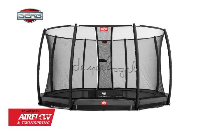 BERG InGround Champion grijs 330/380/430 + Safety Net Deluxe