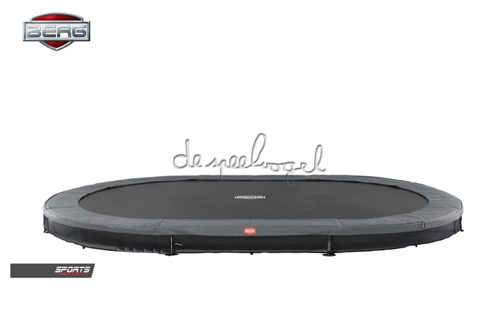 BERG Grand Favorit InGround 520 groen/grijs + Safety Net Comfort