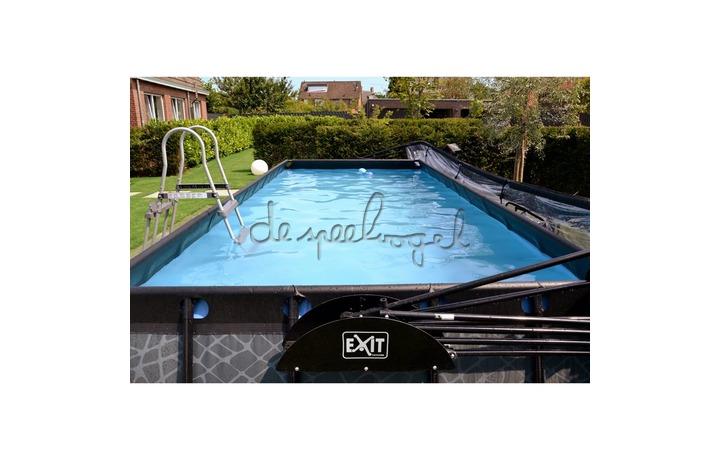 30.17.53.00 EXIT Frame Pool 5.4x2.5x1m Premium – Stone Grey/Timber Style