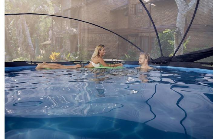 30.32.10.00 EXIT Frame Pool ø300x76cm – Stone Grey + Overkapping
