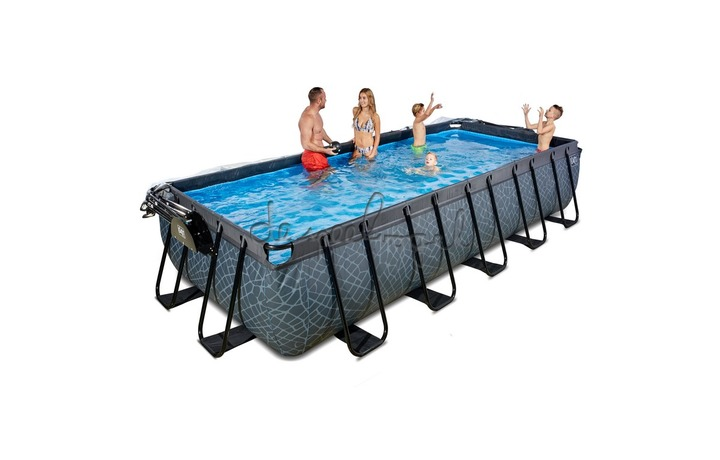 30.37.53.00 EXIT Frame Pool 5.4x2.5x1m Premium – Timber Style + Overkapping
