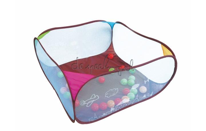 2836 Pop'Up speelmat Uiltje, met ballen - 90x90x44cm