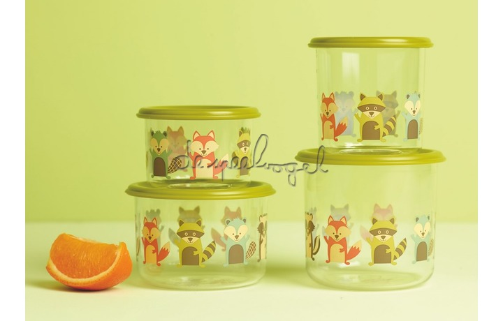 SBA1138 Good Lunch snack containers (set of 2) What did the Fox Eat