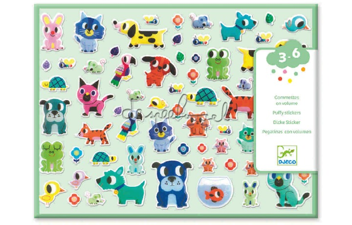 DJ09079 Reliëf stickers - Mes petits amis
