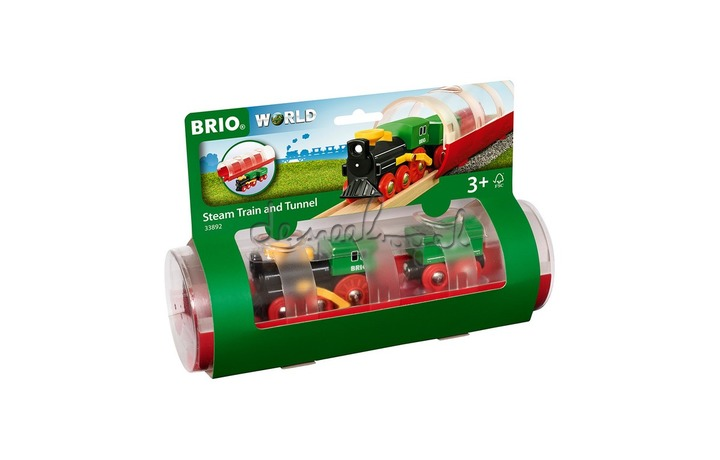 33892 Tunnel & Steam Train - Rood
