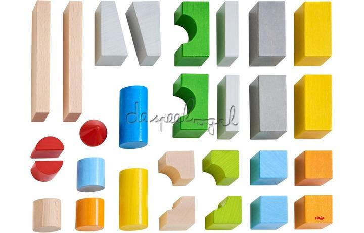 305163 Bouwstenen- Basispakket, gekleurd (28 blokken)