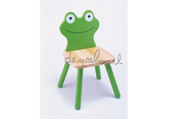 99211 Houten stoel Kikker - groen