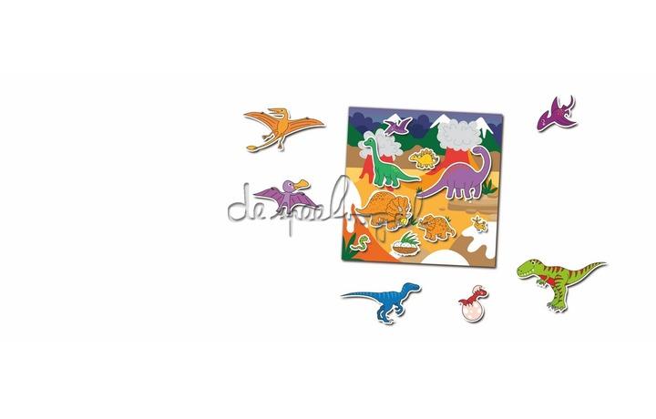 1005101 Boek met herbruikbare stickers-Dinosaurussen