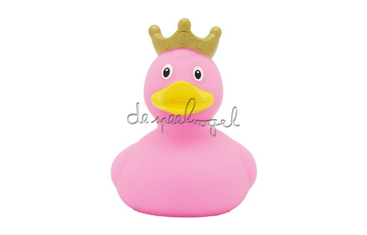 1926 Duck with Crown, pink - design by LILALU
