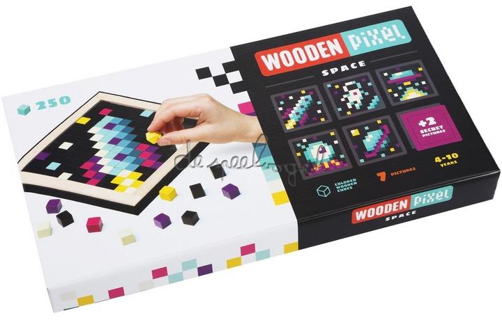 14873 Cubika houten mozaïek Pixel 1 Space
