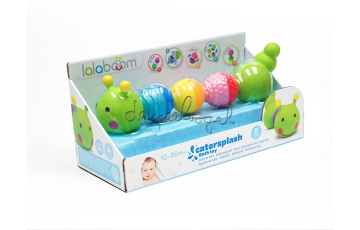 BL500 Bath Toy Caterpillar And Beads - 8St