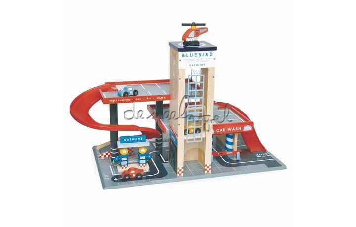 4608581 Garage & Werkplaats Met 3 Houten Auto'S En Een Helikopter