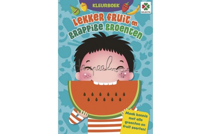 56102 Lekkere Fruit en Grappige Groenten Kleurboek