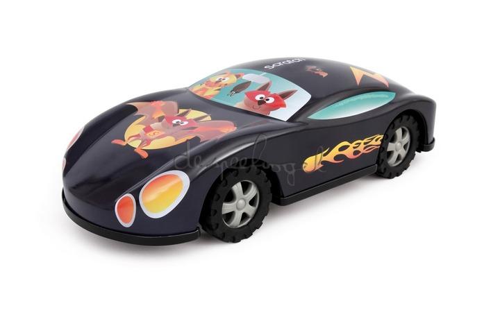 6183215 Auto Superheld Met Frictie In Metaal