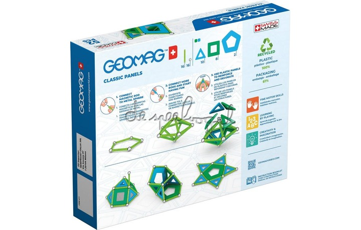 471 Geomag Classic Panels Green Line 52 delig