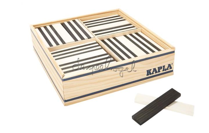 Kapla 100 Plankjes Zwart/wit