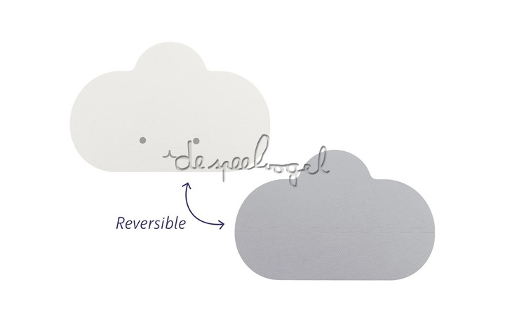 172208 Quut Playmat - Head in the clouds S Pearly Grey