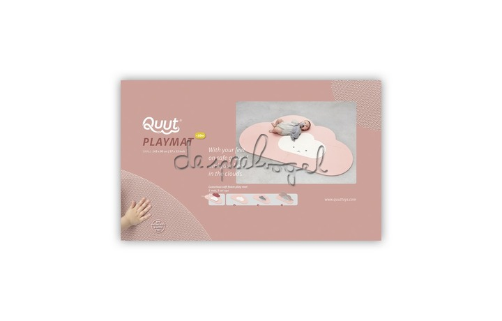 172222 Quut Playmat - Head in the clouds S Blush Rose