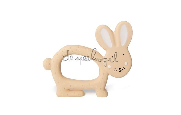 37655 Natural rubber grijpspeeltje - Mrs. Rabbit