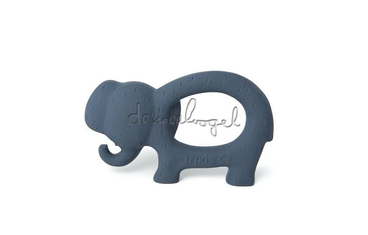 37653 Natural rubber grijpspeeltje - Mrs. Elephant