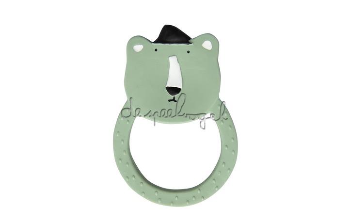 37657 Natural rubber ronde bijtring - Mr. Polar Bear