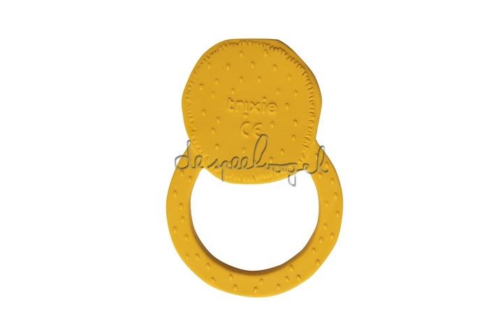 37658 Natural rubber ronde bijtring - Mr. Lion