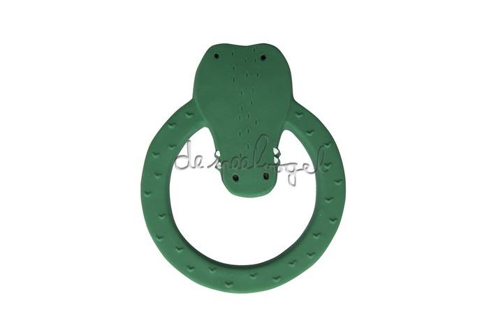 37660 Natural rubber ronde bijtring - Mr. Crocodile