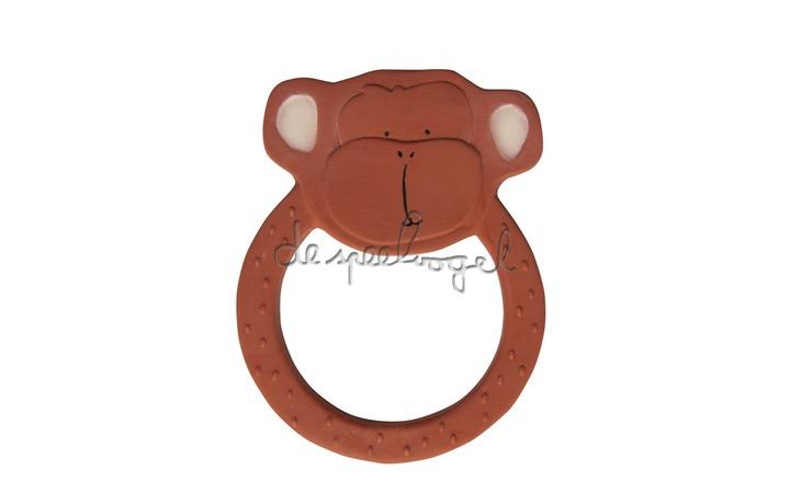 37662 Natural rubber ronde bijtring - Mr. Monkey