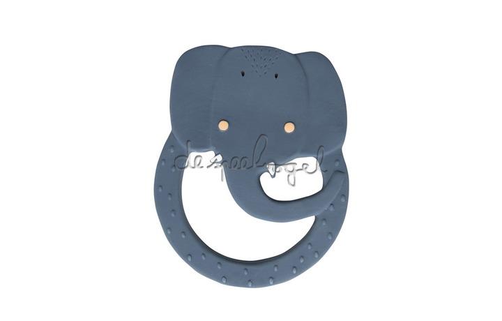 37659 Natural rubber ronde bijtring - Mrs. Elephant