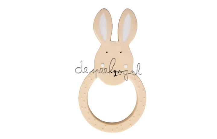 37661 Natural rubber ronde bijtring - Mrs. Rabbit
