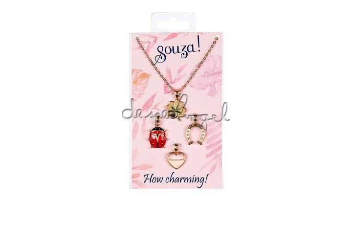 105889 Cadeauset Charmin, ketting + 4 bedels