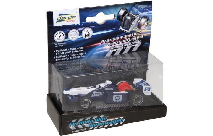 Darda 50323 wit/blauwe formule 1 racewagen